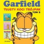 Okładka książki Garfield. Tłusty koci trójpak. Tom 5 Jim Davis