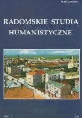 Okładka książki Radomskie Studia Humanistyczne. Tom II Dariusz Kupisz,Sebastian Piątkowski