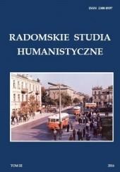 Okładka książki Radomskie Studia Humanistyczne. Tom III Dariusz Kupisz,Sebastian Piątkowski,Anna Spólna