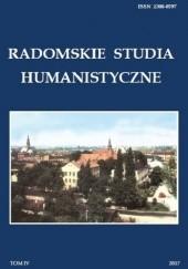 Okładka książki Radomskie Studia Humanistyczne. Tom IV Dariusz Kupisz,Sebastian Piątkowski,Anna Spólna