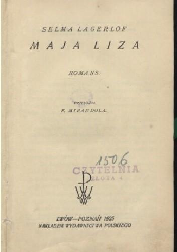 Okładka książki Maja Lisa: romans Selma Lagerlöf
