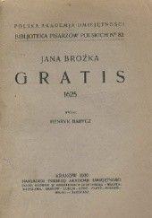 Okładka książki Gratis