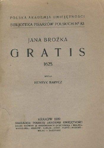 Okładka książki Gratis Jan Brożek
