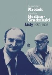Okładka książki Listy 1959-1998 Sławomir Mrożek,Gustaw Herling-Grudziński