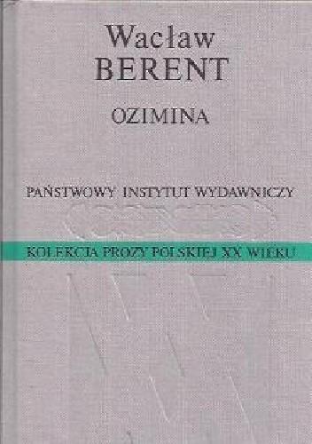 Okładka książki Ozimina Wacław Berent