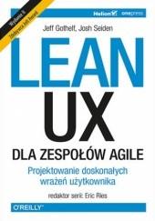 Okładka książki Lean UX dla zespołów AGILE Eric Ries