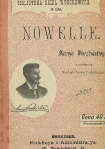 Okładka książki Nowelle Maciej Wierzbiński