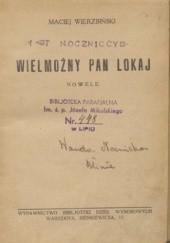 Okładka książki Wielmożny pan lokaj Maciej Wierzbiński