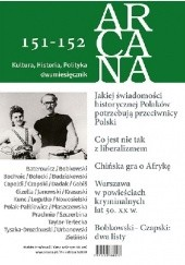 Okładka książki ARCANA nr 151-152 Maciej Urbanowski,Andrzej Bobkowski,Marek Zagańczyk,Józef Czapski,Ryszard Legutko,Włodzimierz Bolecki,Piotr Prachnio