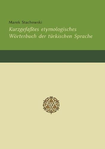 Okładka książki Kurzgefaßtes etymologisches Wörterbuch der türkischen Sprache Marek Stachowski