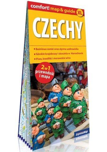 Okładka książki Czechy; laminowany map&guide XL (2w1: przewodnik i mapa) Katarzyna Byrtek