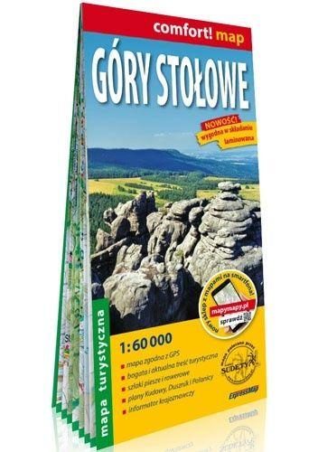 Okładka książki Góry Stołowe; laminowana mapa turystyczna; 1:60 000 praca zbiorowa