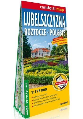 Okładka książki Lubelszczyzna. Roztocze, Polesie; laminowana mapa turystyczna 1:175 000 praca zbiorowa