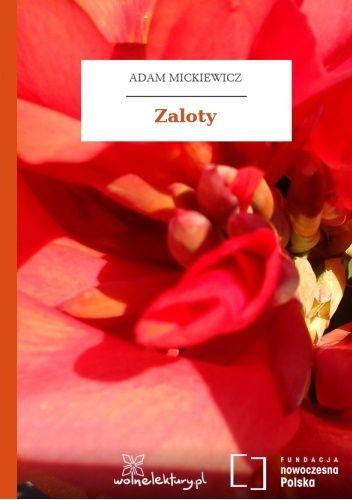 Okładka książki Zaloty Adam Mickiewicz