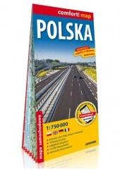 Okładka książki Polska; laminowana mapa samochodowa 1:750 000