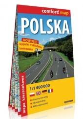 Okładka książki Polska; laminowana mapa samochodowa 1:1 000 000