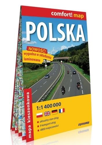 Okładka książki Polska; laminowana mapa samochodowa 1:1 000 000 praca zbiorowa