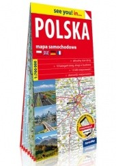 Okładka książki Polska; papierowa mapa samochodowa 1:700 000