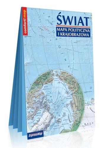 Okładka książki Mapa polityczna i krajobrazowa; świat; laminowana mapa XXL 1:31 000 000 praca zbiorowa