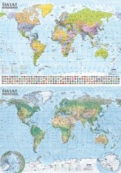 Okładka książki Świat. Mapa polityczna i krajobrazowa, format B0, mapa ścienna