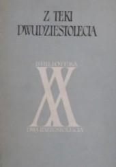 Okładka książki Z teki dwudziestolecia