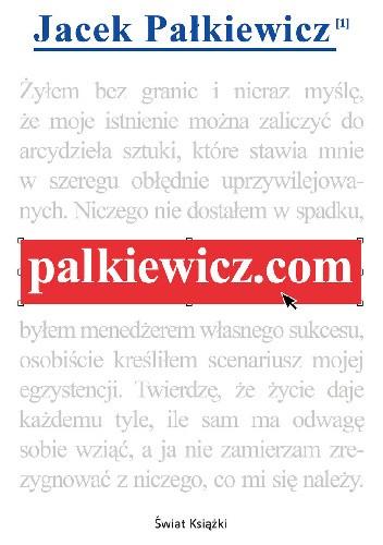 Okładka książki palkiewicz.com Jacek Pałkiewicz