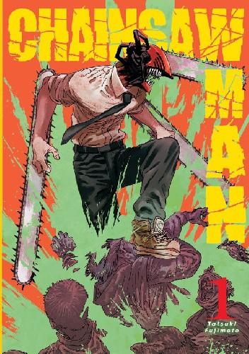 Okładka książki Chainsaw Man tom 1 Tatsuki Fujimoto