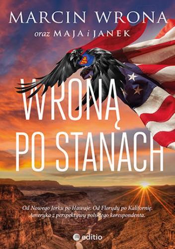 Okładka książki Wroną po Stanach Marcin Wrona