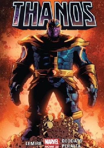 Okładka książki Thanos. Tom 1 Mike Deodato Jr.,Jeff Lemire,German Peralta