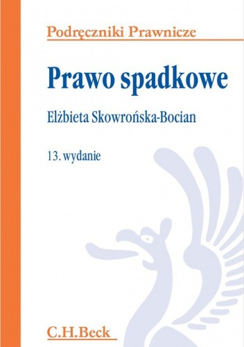 Okładka książki Prawo spadkowe Elżbieta Skowrońska-Bocian