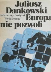 Okładka książki Europa nie pozwoli