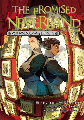 Okładka książki The Promised Neverland Light novel - Wspomnienia mamy i siostry Posuka Demizu,Nanao,Kaiu Shirai