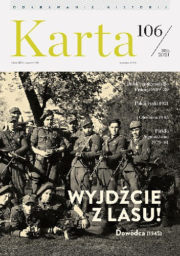 Okładka książki Karta nr 106 / 2021 Redakcja Magazynu Historycznego KARTA
