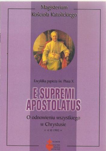 Okładka książki E supremi apostolatus Pius X