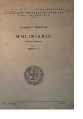 Okładka książki Wolinianie. Studium osadnicze, Cz. 1: Materiały