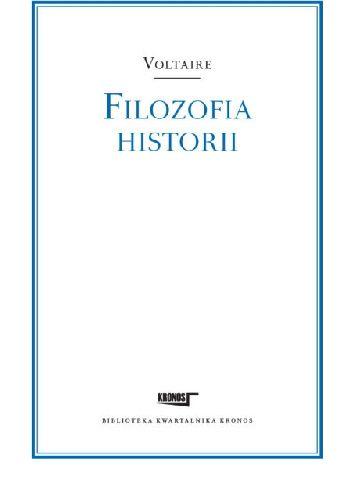 Okładka książki Filozofia historii Voltaire