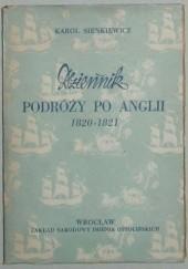 Okładka książki Dziennik podróży po Anglii 1820-1821 Karol Sienkiewicz