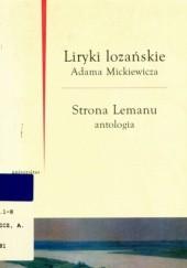 Okładka książki Liryki lozańskie Adam Mickiewicz