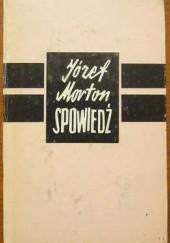 Okładka książki Spowiedź Józef Morton