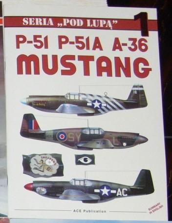 Okładka książki P-51, P-51A, A-36 Mustang Przemysław Skulski