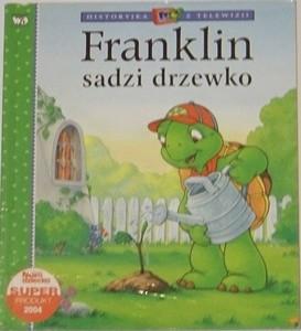 Okładka książki Franklin sadzi drzewko Sharon Jennings