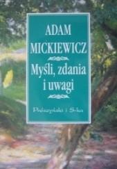 Okładka książki Myśli, zdania i uwagi Adam Mickiewicz