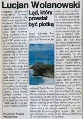 Okładka książki Ląd, który przestał być plotką Lucjan Wolanowski