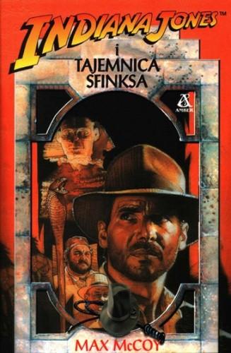 Okładka książki Indiana Jones i tajemnica Sfinksa Max McCoy