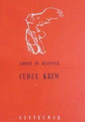 Okładka książki Cudza krew Simone de Beauvoir