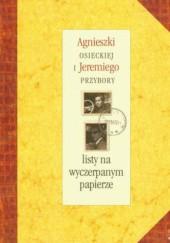 Okładka książki Agnieszki Osieckiej i Jeremiego Przybory listy na wyczerpanym papierze