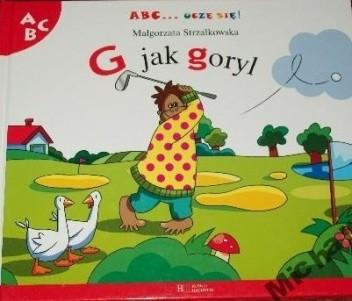 Okładka książki G jak goryl Małgorzata Strzałkowska