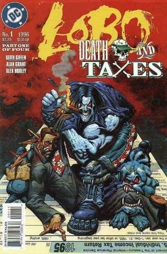 Okładka książki Lobo: Śmierć i podatki Keith Giffen,Alan Grant,Alex Horley