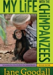 Okładka książki My life with the chimpanzees Jane Goodall
