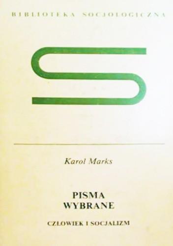 Okładka książki Człowiek i socjalizm Karol Marks